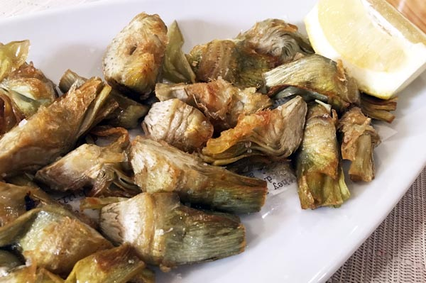 Alcachofas en fritura